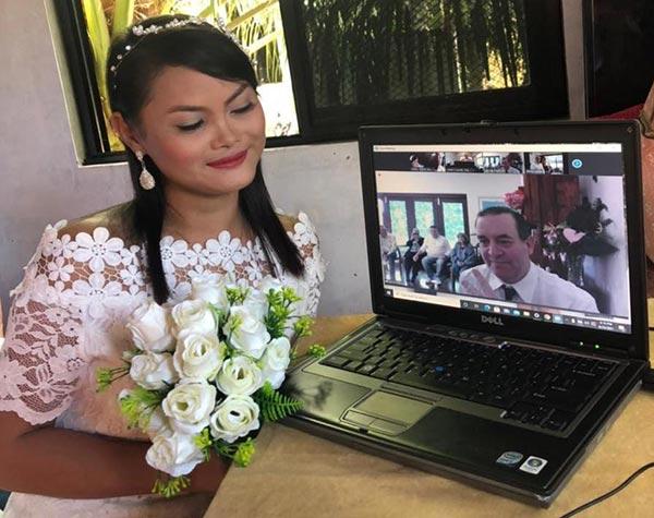 Online Wedding Australian Filipina couple